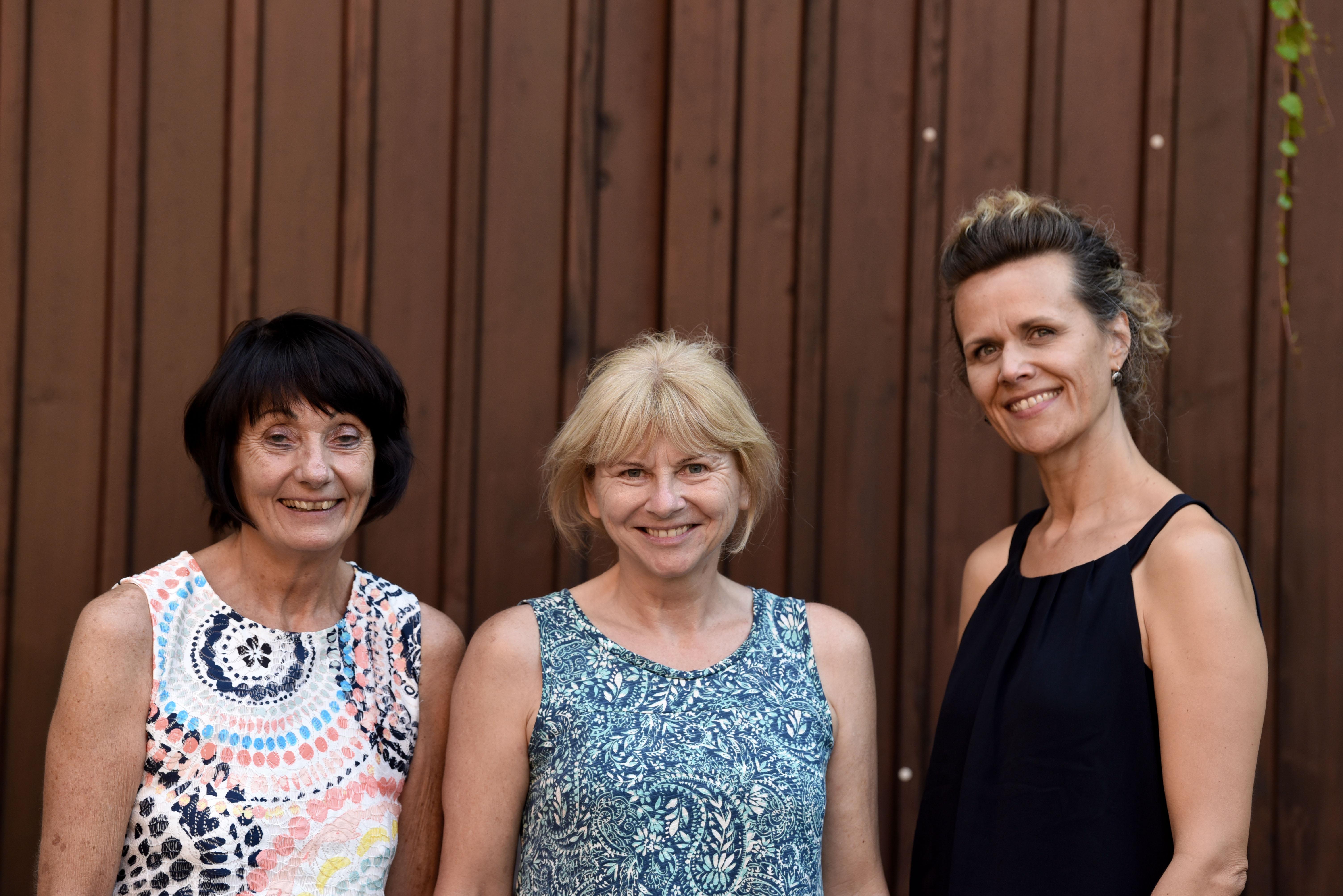 Das Team der Straßenkreuzer Uni: Barbara Kressmann, Ilse Weiß, Sandra Dichtl (von li.)